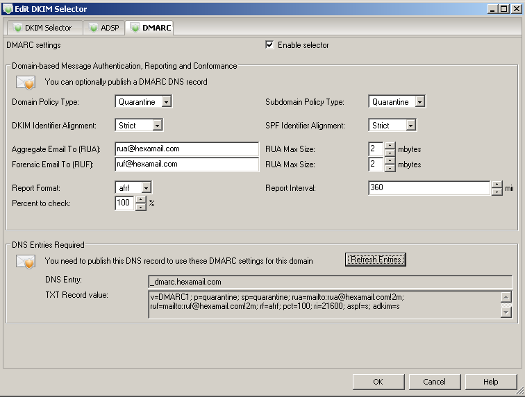 Creating a DNS record for DMARC